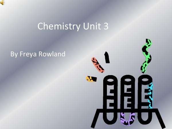 Preview of GCSE Chemistry Unit 3