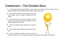 Preview of GCSE Creationism Religious Studies
