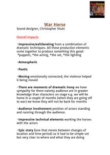 A-level Drama Help / Advice - Revision 4: Writing a main body