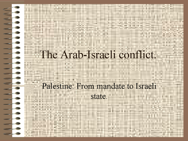 Preview of GCSE Edexcel Arab-israeli intro