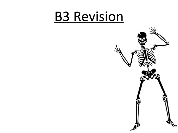 Preview of GCSE Edexcel Biology - B3