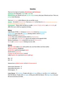 Preview of GCSE EDEXCEL BIOLOGY GENETICS