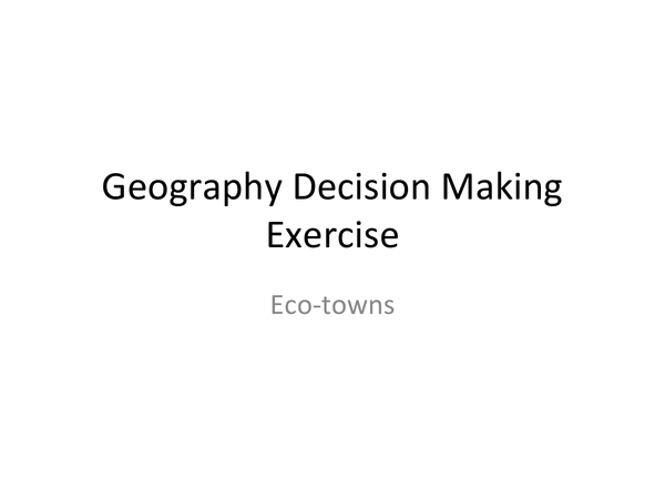 Preview of GCSE Edexcel Geography- Eco-town notes