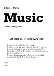 Preview of GCSE Edexcel Music - Practice Exam on 'Grace', Aos3 (Unofficial)