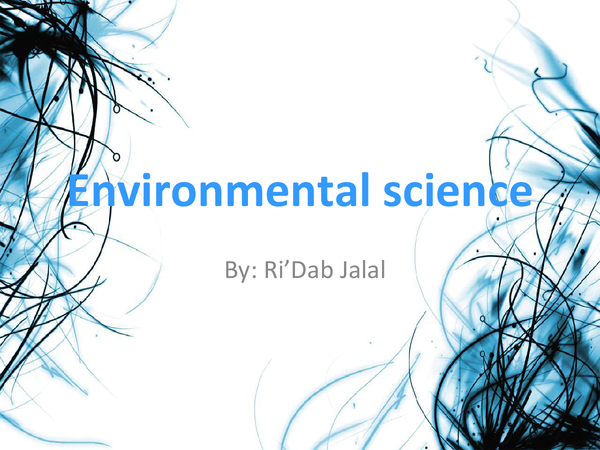 Preview of gcse enviromental science ocr bioligy