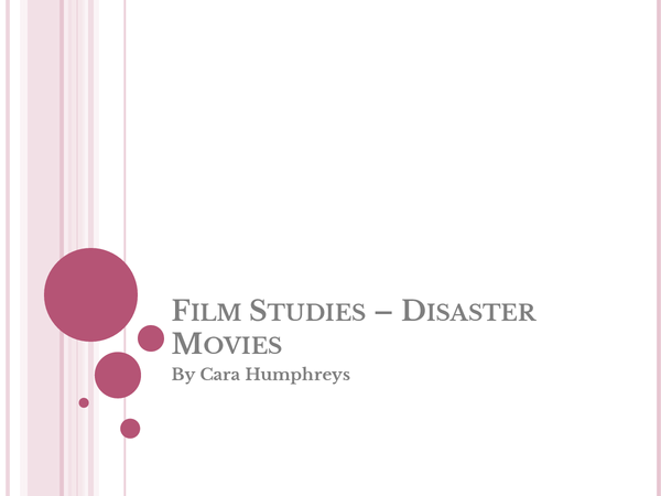 Preview of GCSE Edexcel Film Studies - Disaster Movie Conventions