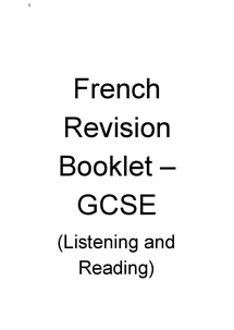 Preview of GCSE French Reading and Listening Revision Booklet (Links included)