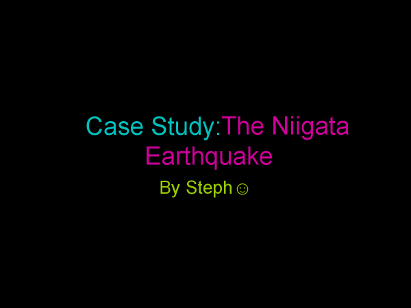 Preview of GCSE Geog. Nigata earthquake case study pres.