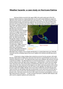 Preview of GCSE Geography Case study : Hurricane Katrina