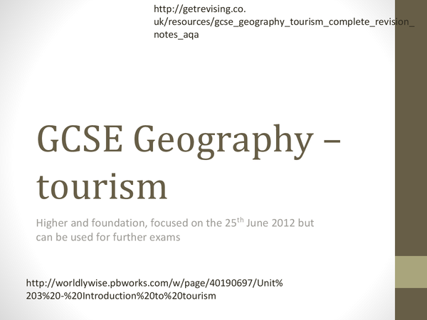 Preview of GCSE Geography complete revision PowerPoint