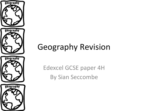 Preview of GCSE Geography Complete revison notes Paper 2