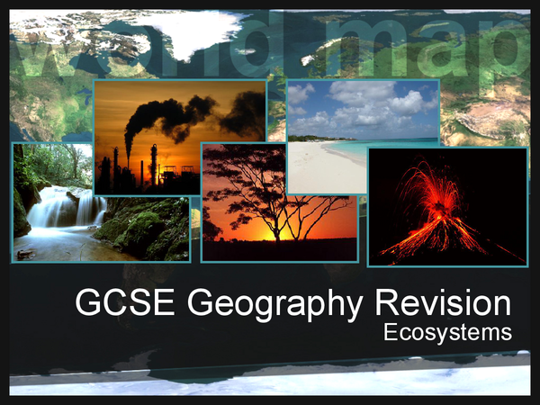 Preview of GCSE Geography: Ecosystems Revision Cards