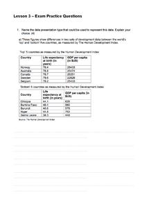 Preview of GCSE Geography Edexcel Unit 1 - Revision Lesson 3 Exam Qs