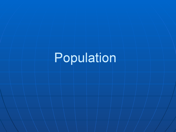 Preview of GCSE Geography- Human Geography- Population