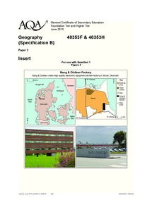Preview of GCSE geography insert higher/foundation