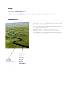 Preview of GCSE Geography - Meanders