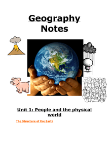 Preview of GCSE Geography OCR notes for 2010 exam