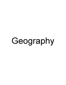 Preview of GCSE Geography Revision Notes