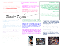 Preview of GCSE Geography - Shanty Towns