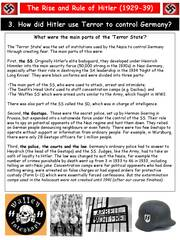 did hitler use fear to control Part 24 of a complete online history, the rise of adolf hitler - from unknown   armed sa and ss thugs barged into local government offices using the state  at  this time, these early concentration camps were loosely organized under the  control of  but in order to do all this, hitler said, he first needed the enabling act  a.