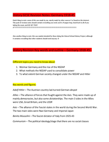 Preview of GCSE History Revision notes Germany 1918-45: 24 pages and EVERYTHING YOU SHOULD NEED!