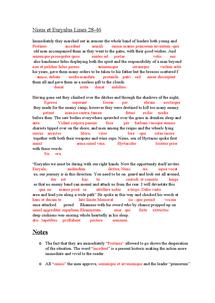 Preview of GCSE Latin: Nisus et Euryalus lines 28-46