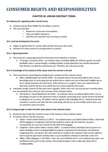 Preview of GCSE Law - Consumer Rights and Responsibilities - Chapter 18