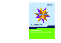 Preview of GCSE Mathematics Past Papers and Mark Schemes
