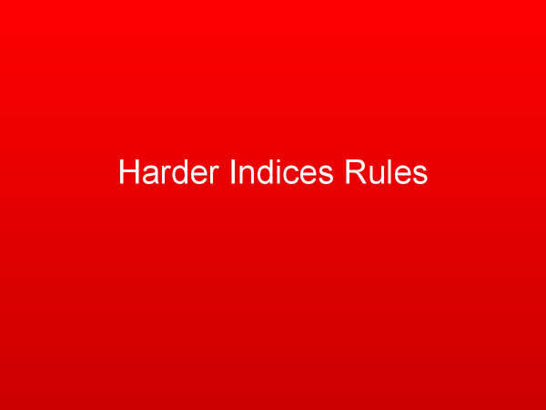 Preview of GCSE Maths: Harder Indices Rules
