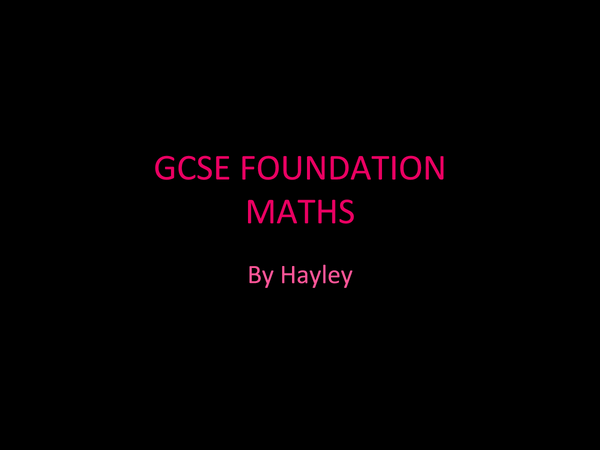 Preview of GCSE maths revision