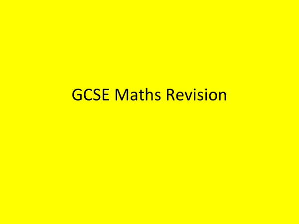 Preview of GCSE Maths Revision - Areas