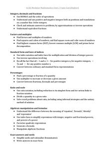 Preview of GCSE Modular Maths Unit 2 topic list (Higher)