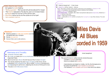 Preview of GCSE Music -  All Blues Section B