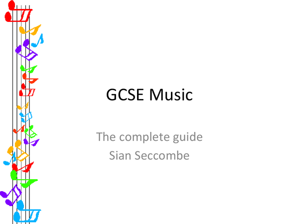Preview of GCSE Music, Edexcel, Complete revision notes