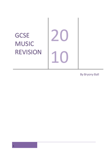 Preview of GCSE Music Revision Guide