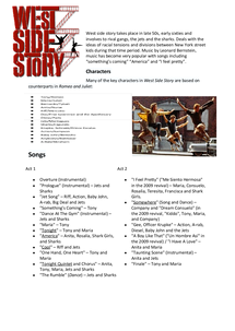 Preview of GCSE Music: West side story