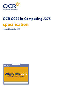 Preview of GCSE OCR IT SPECIFICATION