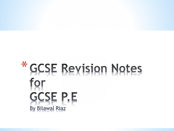 Preview of GCSE PE Revision