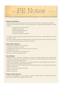 Preview of GCSE PE - Short Course Revision Notes
