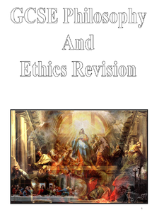 Preview of GCSE Philosophy and Ethics Revision Booklet