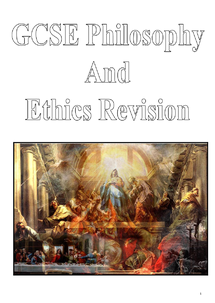 Preview of GCSE Philosophy and Ethics Revision Booklet (Philosophy only)