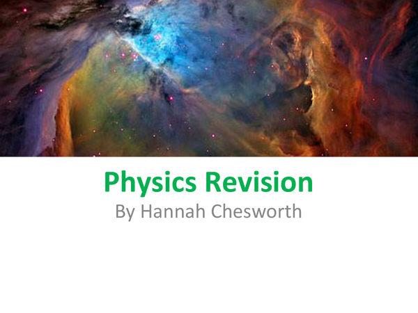 Preview of GCSE Physics WJEC unit 2 higher tier
