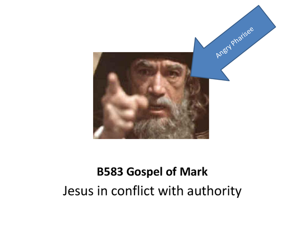 Preview of GCSE R.S. - Mark's Gospel - Conflict with Authority Presentation