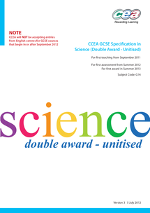 Preview of GCSE SCI Double Award Unitised REVISED Specification 6572