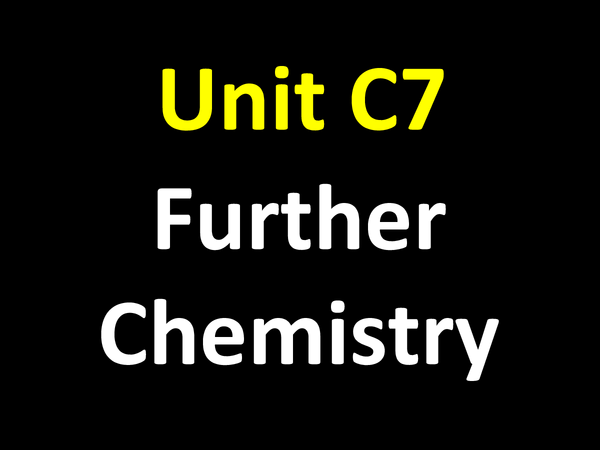 Preview of Gcse Science Chemistry Module 7