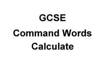 Preview of GCSE Science Command Words