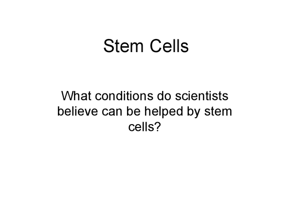 Preview of GCSE Science - Stem cells