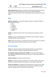 ict short course key revision notes Revision guide i created for my classes exam board is aqa, the course is the gcse in ict i tried to fit 1 topic per page, but some topics went slightly over that feedback from students is very positive so far hope this help.