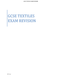 Preview of GCSE Textiles Exam Revision Notes