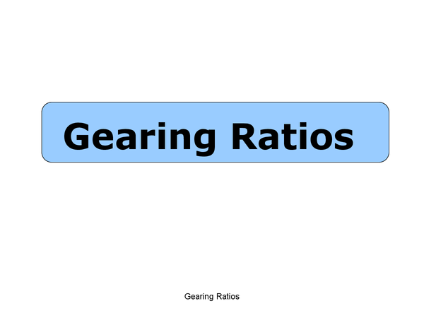 Preview of GEARING RATIOS